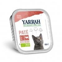 Pâtée en barquette pour chat - Yarrah Pâtée Grain Free Bio - Lot de 6 x 100g