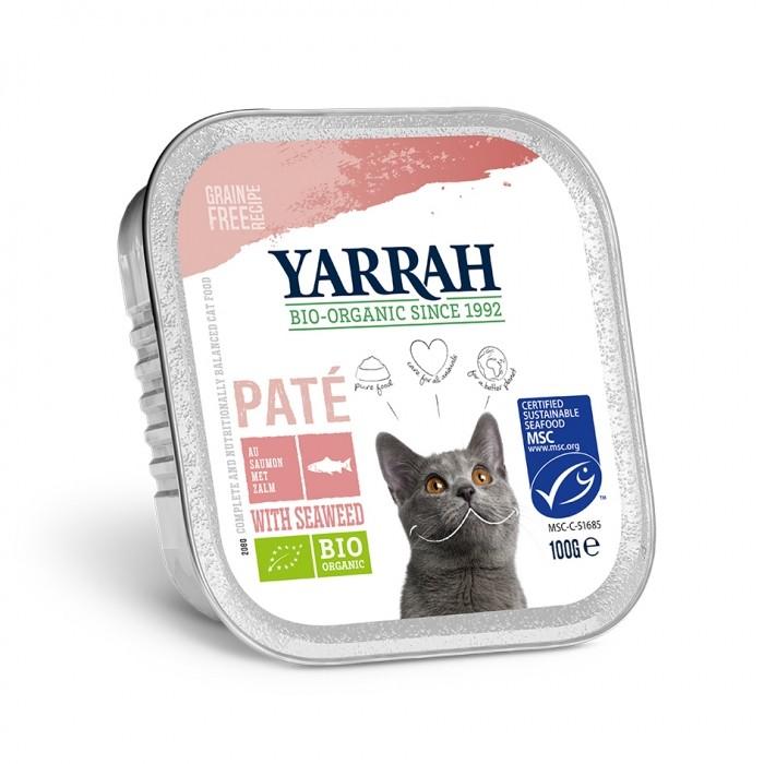 Alimentation pour chat - Yarrah Pâtée Grain Free Bio - 6 x 100g pour chats
