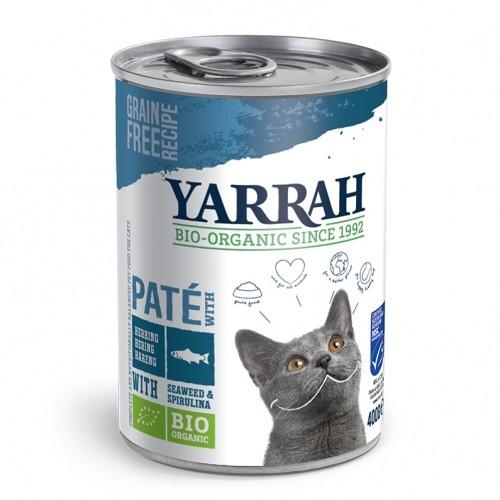 Alimentation pour chat - Yarrah Pâtée Bio en boîte - 6 x 400g pour chats