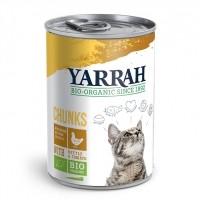 Pâtée en boîte pour chat - Yarrah Bouchées Bio en boîte  - Lot 6 x 405g