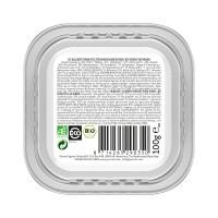 Pâtée en barquette pour chat - Yarrah Bouchées biologiques sans céréales - Lot de 16 x 100g
