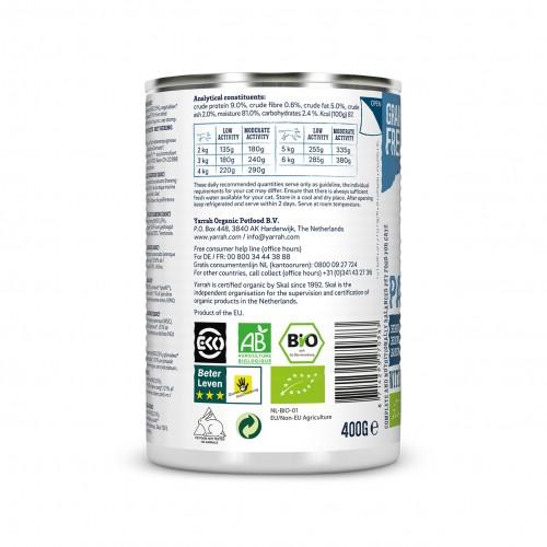 Alimentation pour chat - Yarrah Pâtée biologique en boîte - Lot de 12 x 400g pour chats
