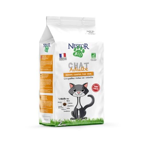 Alimentation pour chat - Nestor Bio Adulte pour chats