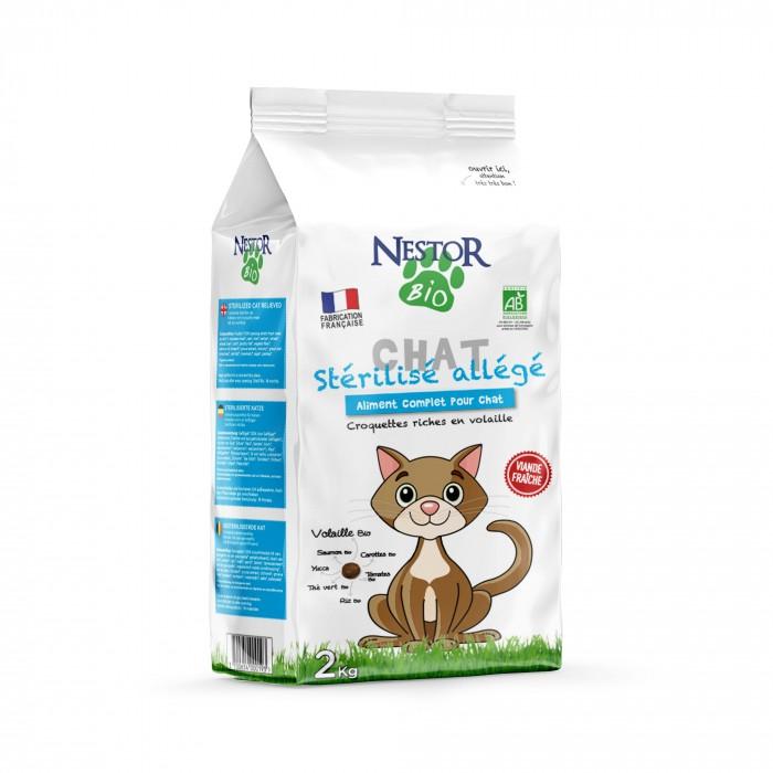 Alimentation pour chat - Nestor Bio Adulte Stérilisé Allégé pour chats