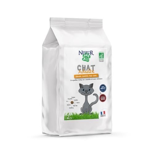 Alimentation pour chat - Nestor Bio Adulte Sans Céréales pour chats