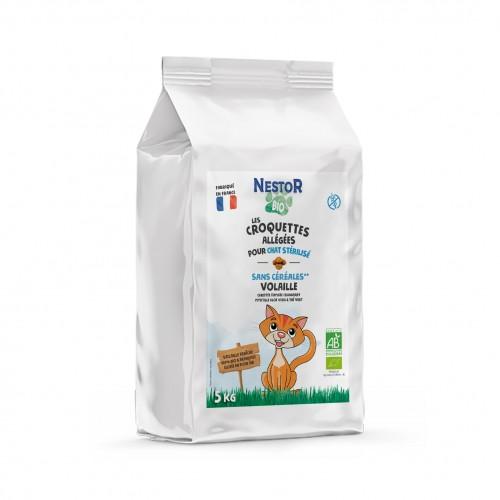 Alimentation pour chat - Nestor Bio Adulte Stérilisé Allégé Sans Céréales pour chats
