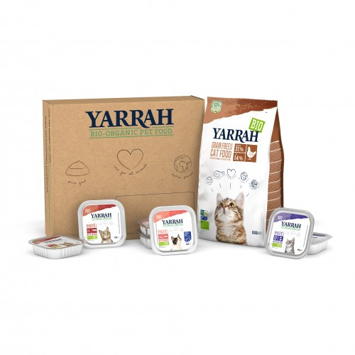 Alimentation pour chat - Yarrah Box Passer au Bio - Sans céréales - Chaton & Chat adulte pour chats