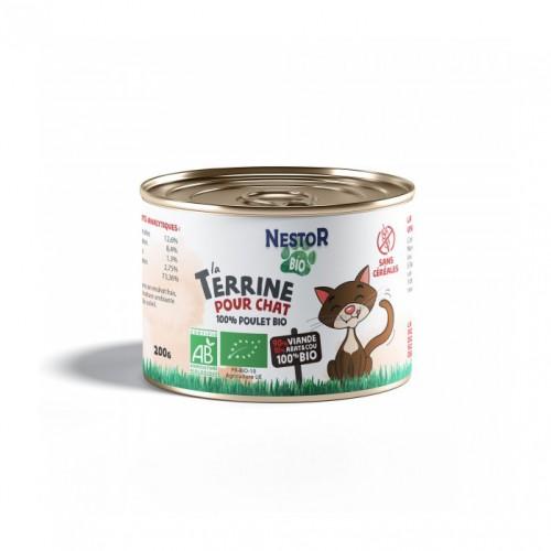 Alimentation pour chat - Nestor Bio La Terrine 100% Poulet Bio pour chats