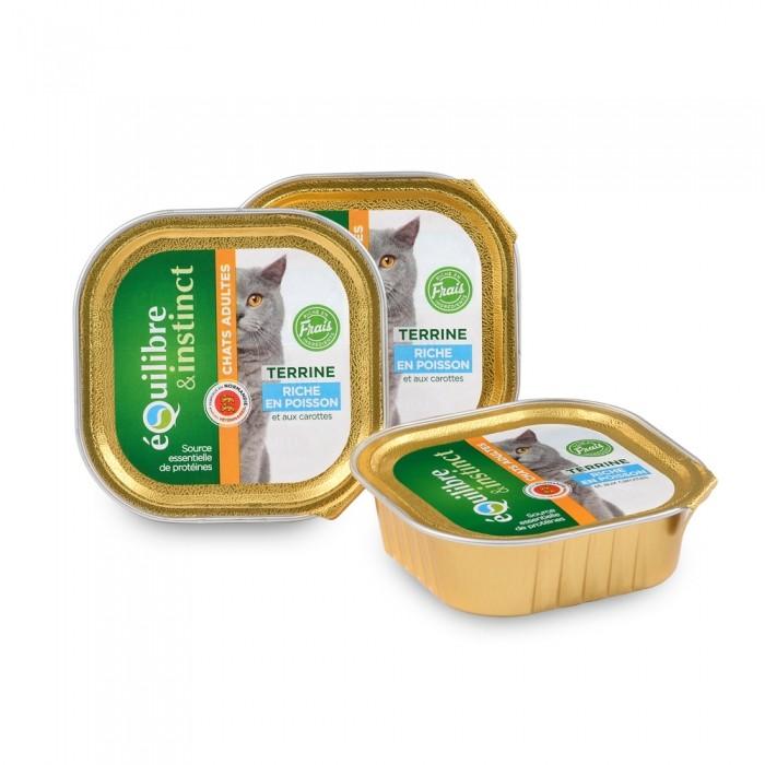 Alimentation pour chat - EQUILIBRE & INSTINCT Adult - Lot 16 x 100g pour chats