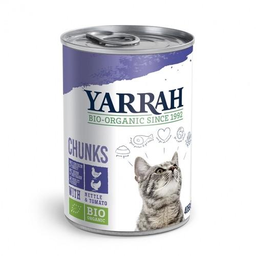 Alimentation pour chat - Yarrah Bouchées Bio en boîte  - lot 6 x 405g pour chats