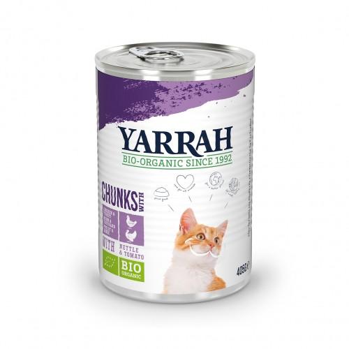 Alimentation pour chat - Yarrah Bouchées biologiques en boîte - Lot 12 x 405g pour chats