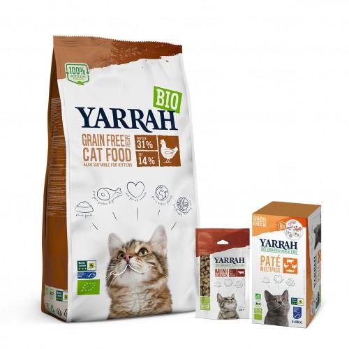 Alimentation pour chat - Yarrah, Pack découverte Bio Grain Free pour chat adulte pour chats