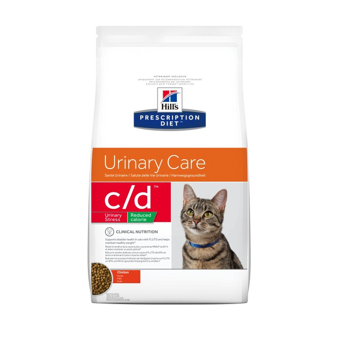 Alimentation pour chat - Hill's Prescription Diet c/d Urinary Stress Reduced Calorie pour chats