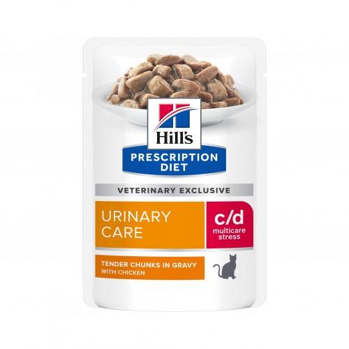 Alimentation pour chat - Hill's Prescription Diet c/d Urinary Stress - Croquettes pour chat pour chats