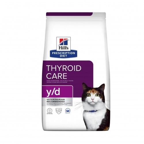 Alimentation pour chat - Hill's Prescription Diet y/d Thyroid Care - Croquettes pour chat pour chats