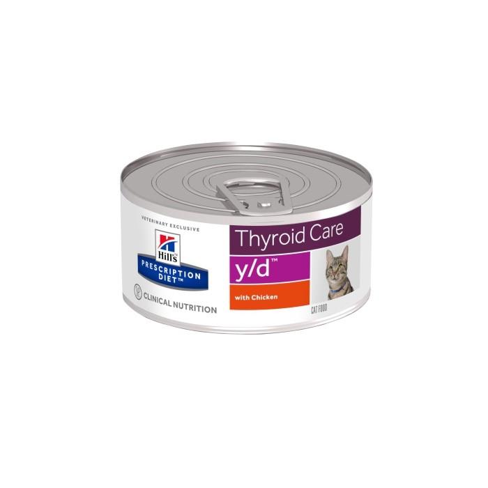 Alimentation pour chat - Hill's Prescription Diet y/d Thyroid Care - Pâtée pour chat pour chats