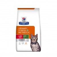 - Hill's Prescription Diet c/d Urinary Stress + Metabolic - Croquettes pour chat