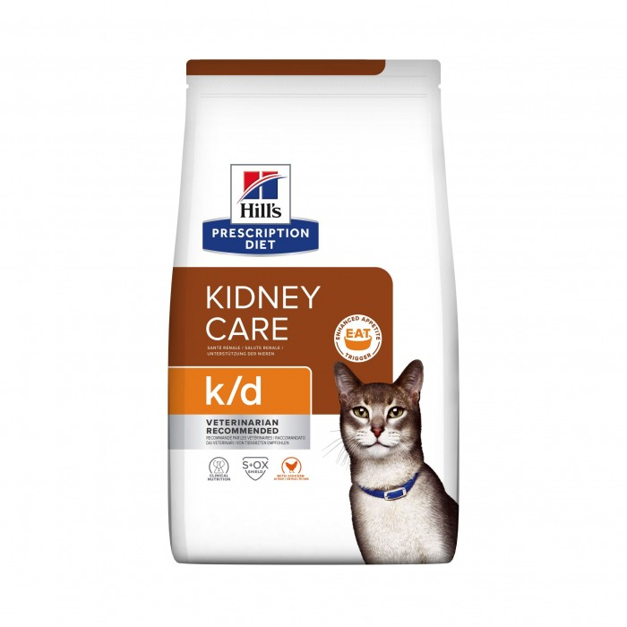 Alimentation pour chat - Hill's Prescription Diet k/d Kidney Care - Croquettes pour chat pour chats