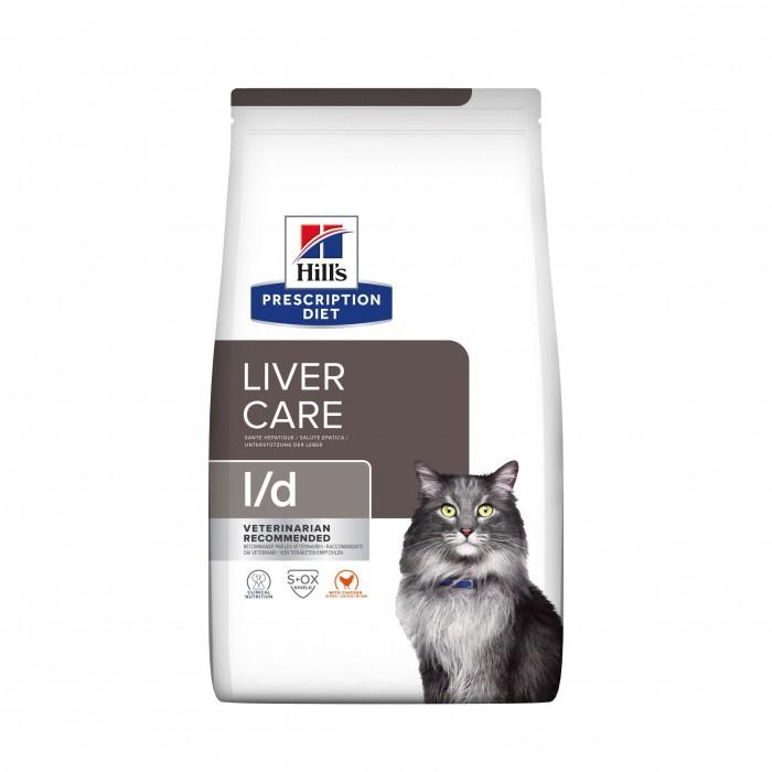 Alimentation pour chat - Hill's Prescription Diet l/d Liver Care - Croquettes pour chat pour chats