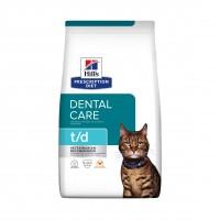 Prescription - Hill's Prescription Diet t/d Dental Care - Croquettes pour chat Feline t/d