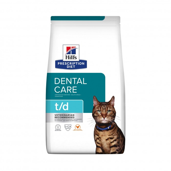 Alimentation pour chat - Hill's Prescription Diet t/d Dental Care - Croquettes pour chat pour chats