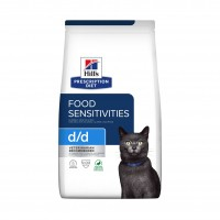 Prescription - Hill's Prescription Diet d/d Food Sensitivities - Croquettes pour chat Feline d/d skin Support