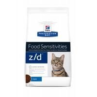 Prescription - Hill's Prescription Diet z/d Food Sensitivities - Croquettes pour chat Feline z/d