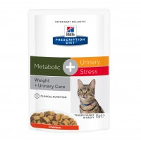 - Hill's Prescription Diet c/d Urinary Stress + Metabolic - Pâtée pour chat