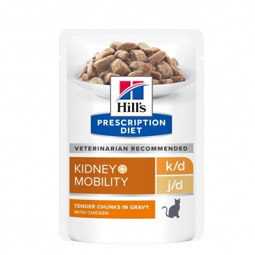 Alimentation pour chat - Hill's Prescription Diet k/d + Mobility - Pâtée pour chat pour chats
