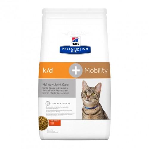 Alimentation pour chat - Hill's Prescription Diet k/d + Mobility - Croquettes pour chat pour chats