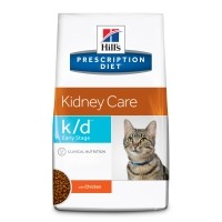 Prescription - Hill's Prescription Diet k/d Early Stage Kidney Care - Croquettes pour chat Feline k/d Early Stage