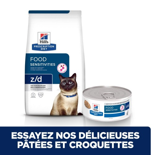Alimentation pour chat - Hill's Prescription Diet Feline z/d Food Sensitivities pour chats