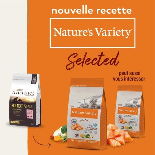 Alimentation pour chat - Nature's Variety Selected No Grain Adult - Saumon pour chats