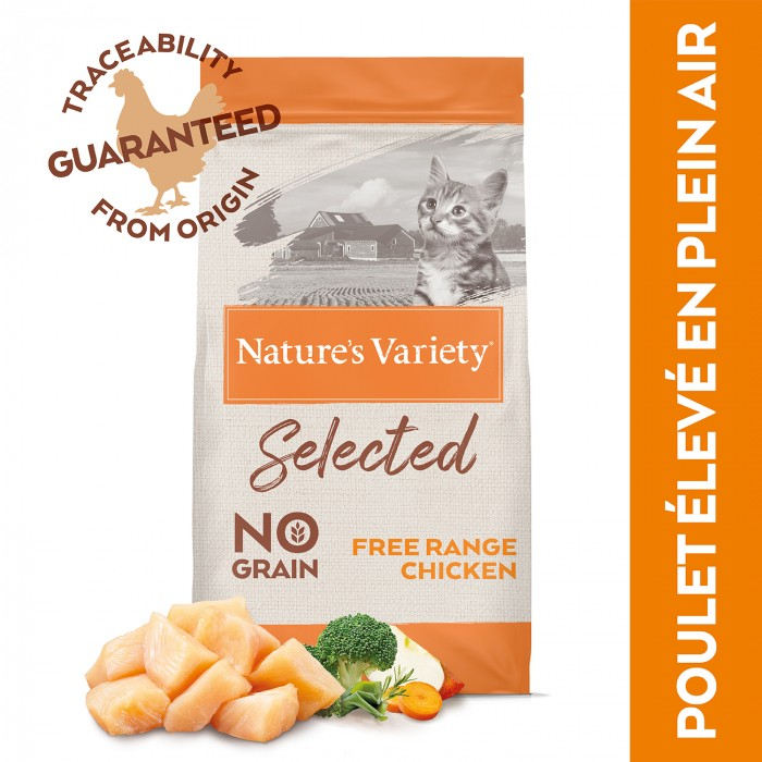 Alimentation pour chat - Nature's Variety Selected No Grain Kitten pour chats
