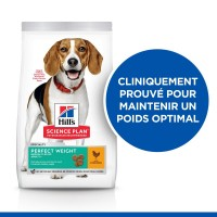 Croquettes pour chien moyen de plus d'1 an - HILL'S Science plan Perfect Weight Medium Adult