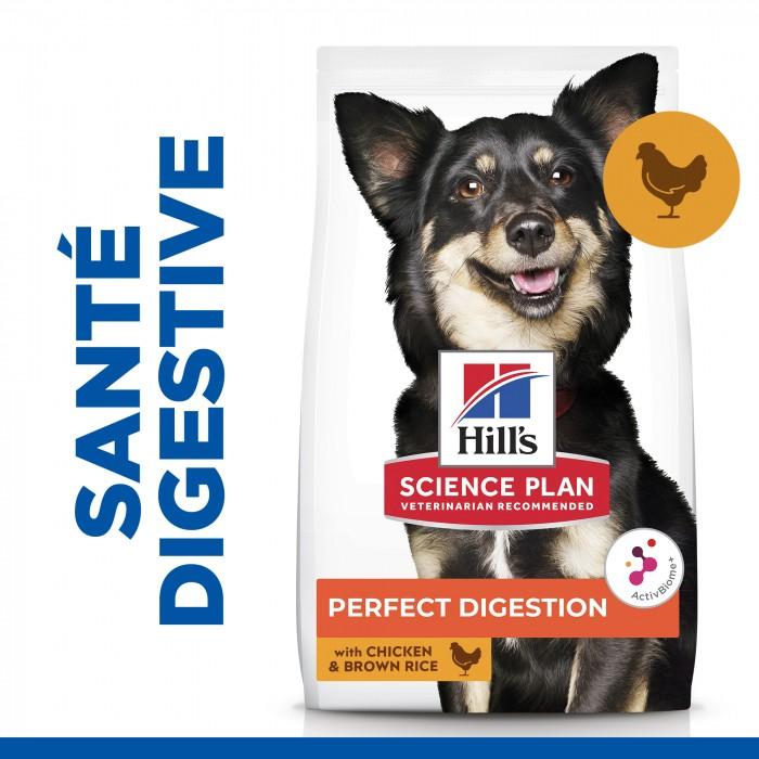 Alimentation pour chien - Hill's Science Plan Perfect Digestion Small & Mini Adult pour chiens