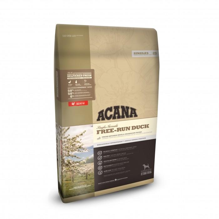 Alimentation pour chien - Acana Singles - Free-Run Duck pour chiens