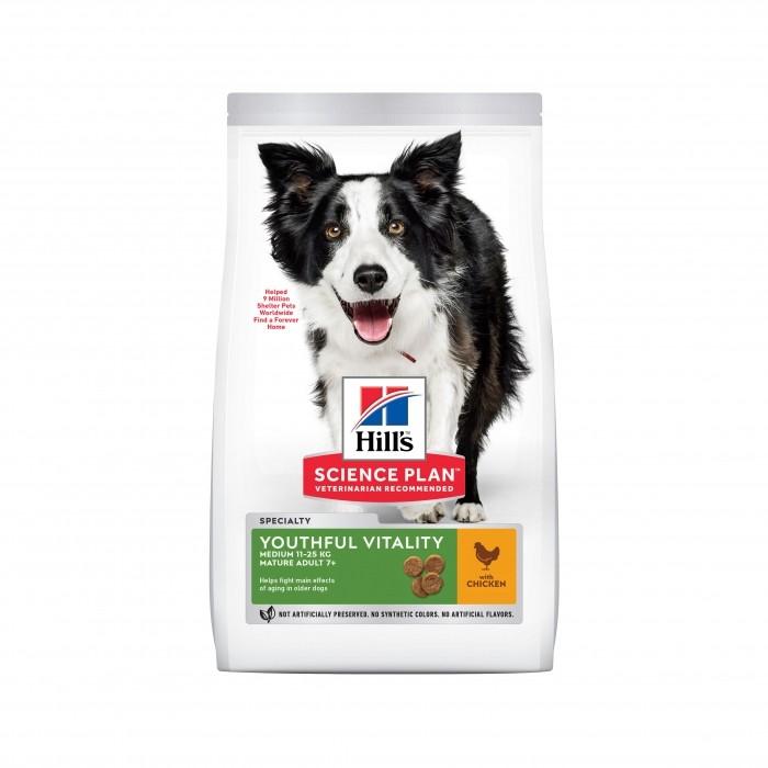 Alimentation pour chien - Hill's Science plan Senior Vitality Mature Adult Medium 7+ pour chiens