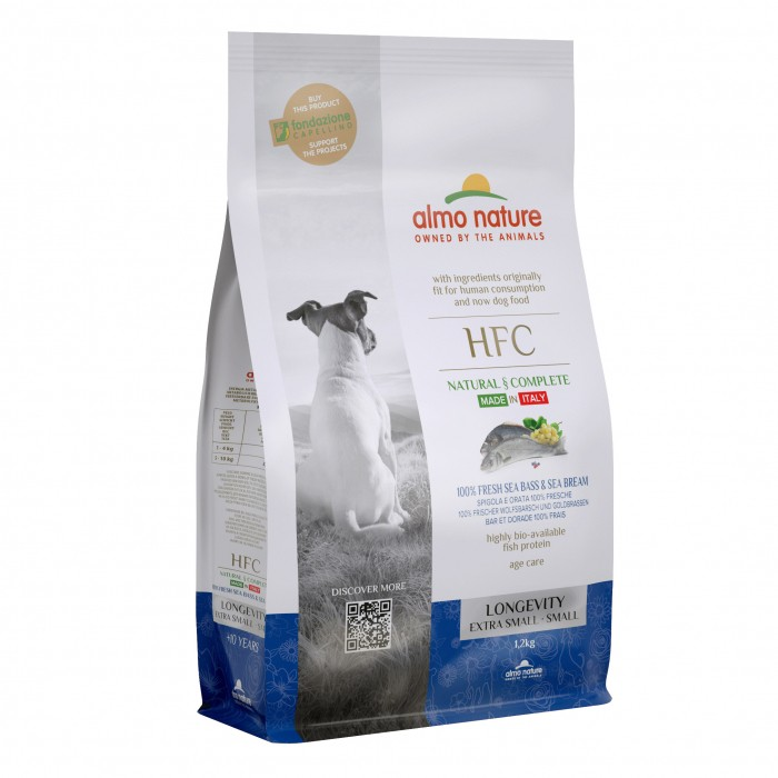 Alimentation pour chien - Almo Nature HFC Longevity Extra Small & Small pour chiens