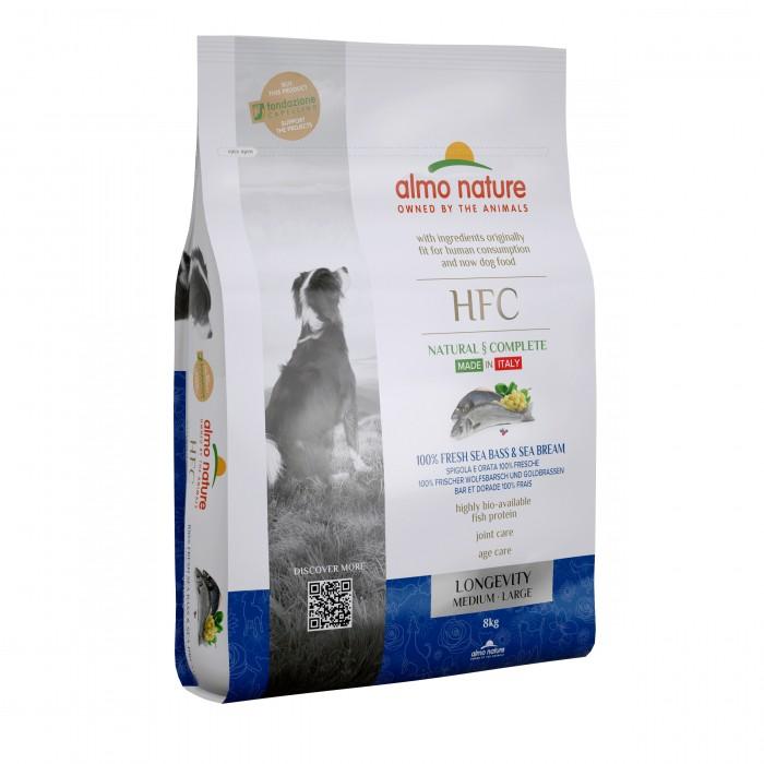 Alimentation pour chien - Almo Nature HFC Longevity Medium Large pour chiens