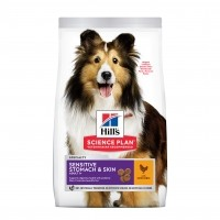 Croquettes pour chien sensible de plus d'1 an - HILL'S Science plan Sensitive Stomach & Skin