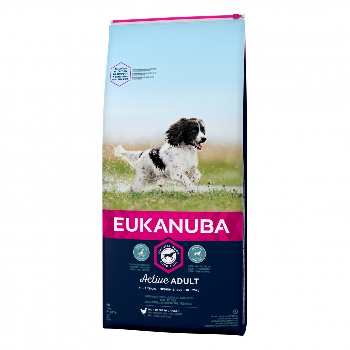 eukanuba croquettes pour chien adult medium breed wanimo. Black Bedroom Furniture Sets. Home Design Ideas
