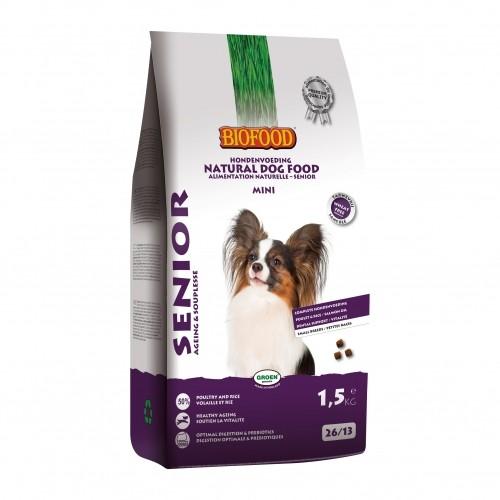 Alimentation pour chien - BIOFOOD Senior Mini sans blé pour chiens