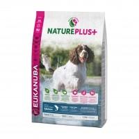 Croquettes pour chien - EUKANUBA Nature Plus Adulte Races Moyennes - Saumon