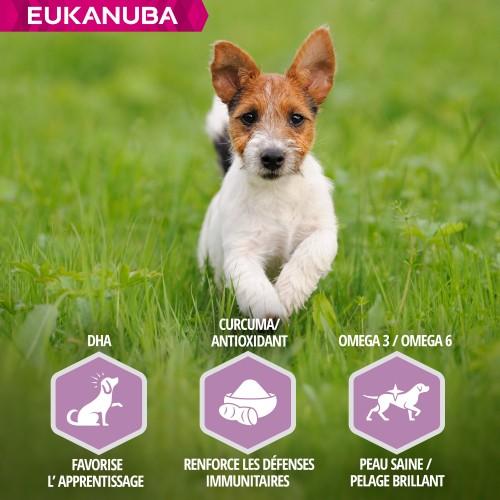 Alimentation pour chien - Eukanuba Puppy Small & Medium Breed - Agneau et riz pour chiens