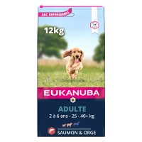 Croquettes pour chien - Eukanuba Adult Small & Medium Breed - Saumon et orge