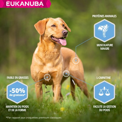 Alimentation pour chien - Eukanuba Daily Care Weight Control Small & Medium Breed pour chiens