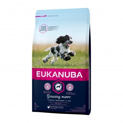 Alimentation pour chien - Eukanuba Growing Puppy Medium Breed pour chiens