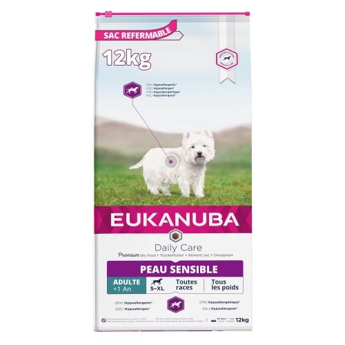 Alimentation pour chien - Eukanuba Daily Care Sensitive Skin pour chiens