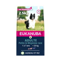 Croquettes pour chien - Eukanuba Adult Small & Medium Breed - Angeau et riz